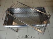 Мангал разборный 60*30*15 см из стали AISI 430 2,0 мм