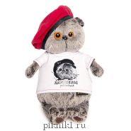 """Басик в футболке с принтом """"Плюшевая революция"""""""